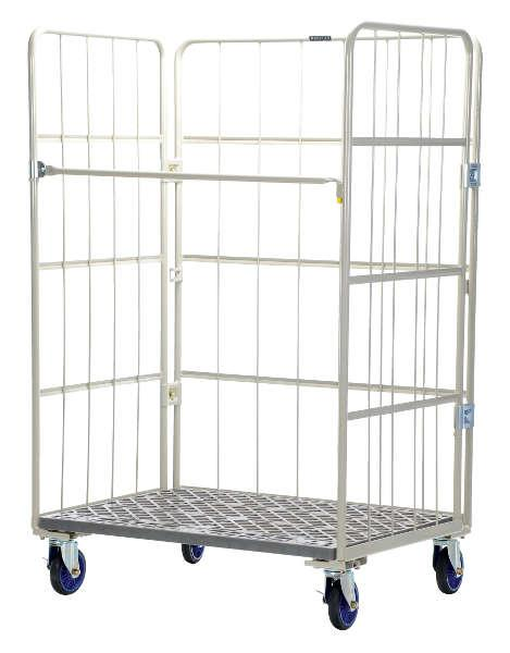 Vestil Space Saving Roll Container 1,100 lb. Capacity Platform Dolly Model No. ROLP-3143