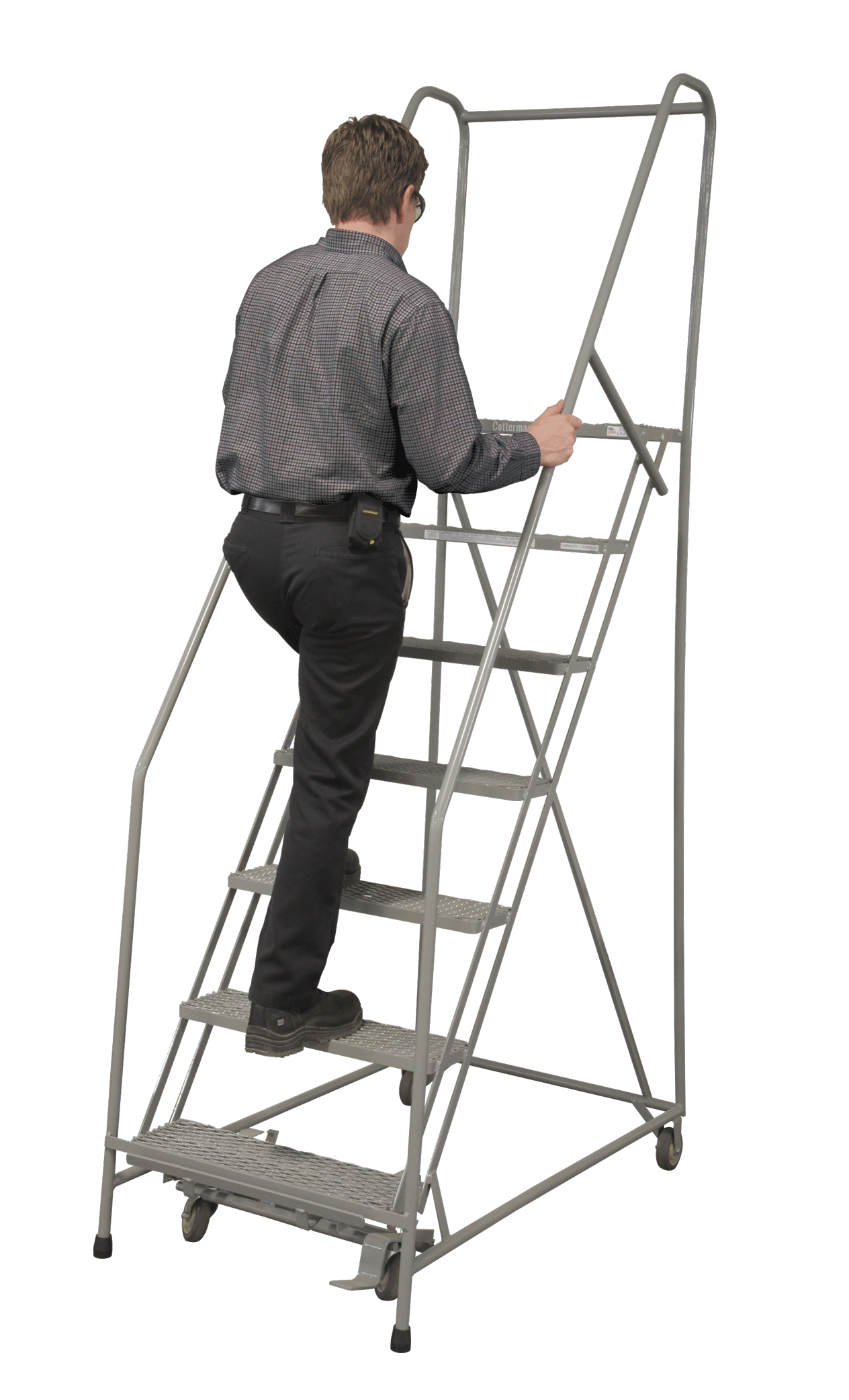 Cotterman Series 1500 Partially Assembled Ladders 16 Inch Tread Width