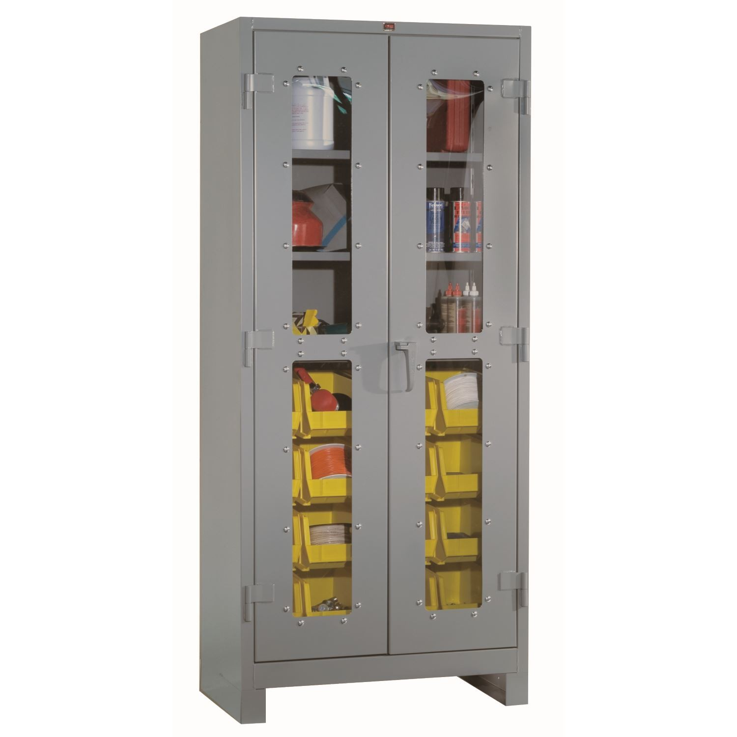 "Lyon 1123V All-Welded Clearview Storage Cabinet 16 Bins 3 Shelves 36"" x 82"""