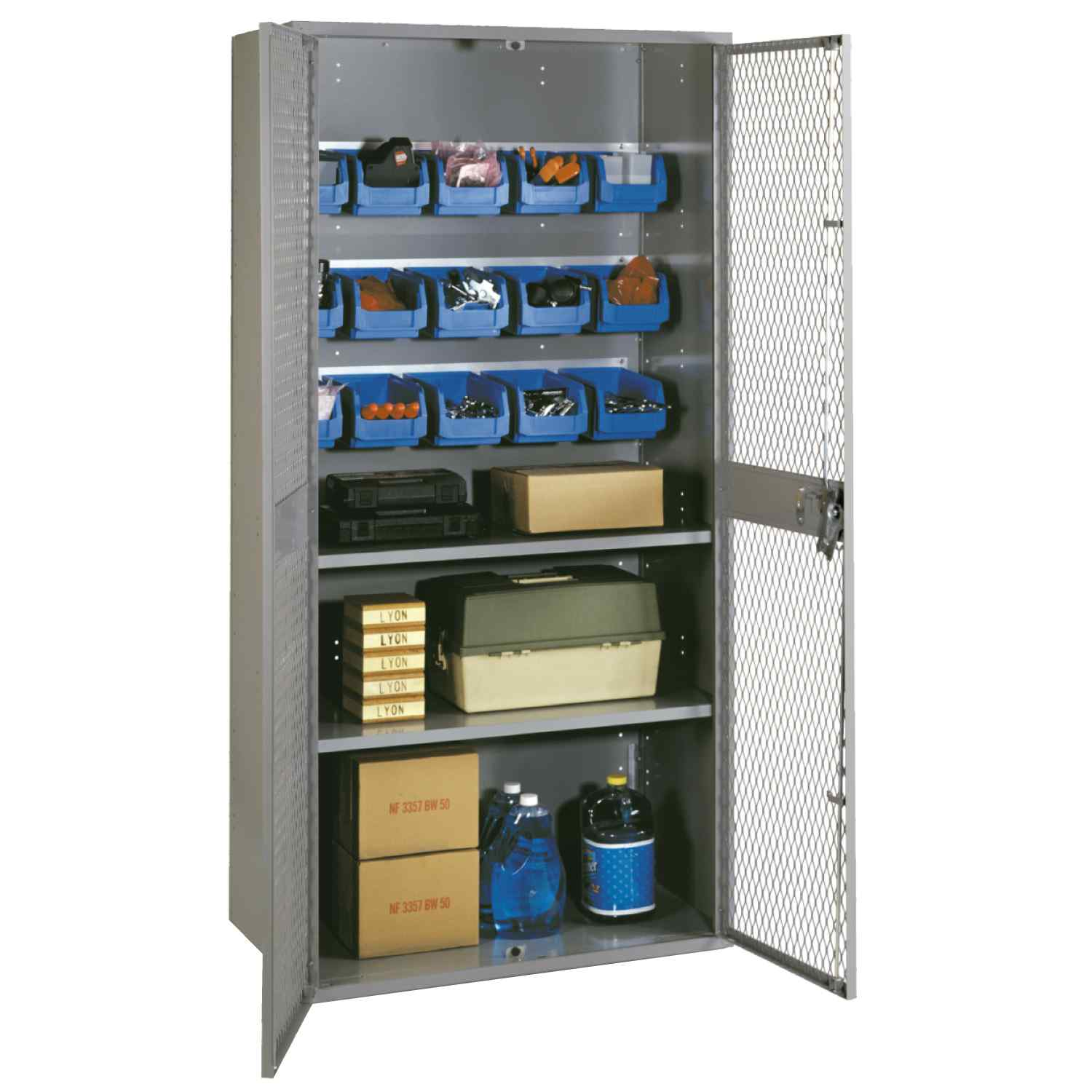 "Lyon Industrial Ventilated Storage Cabinets 36"" x 18"" x 72"""