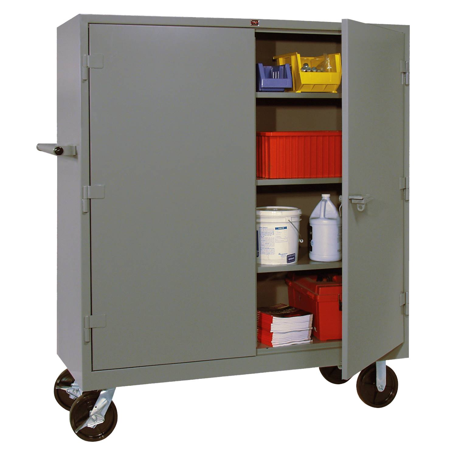 Lyon 1170 All Welded Mobile Shelf Cabinet