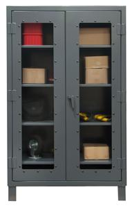 Durham Extra Heavy Duty Clearview Lockable Storage Cabinet Model No. HDCC244866-3S95