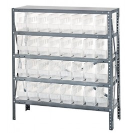 Quantum Clear-View Store-More Bin Shelving, Model 1239-201CL