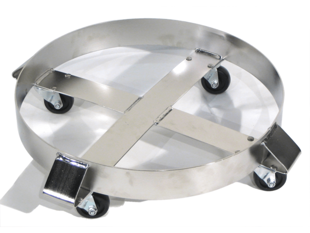 Model 14 Stainless Steel Round Drum Dolly