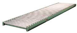 "196G Medium Duty Galvanized Roller Gravity Conveyor 6"" Roller Length"