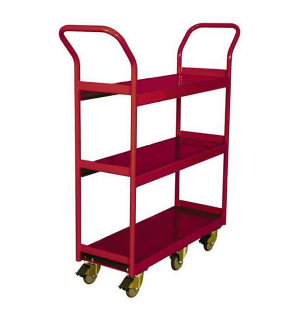 260191 3-Shelf Narrow Aisle Shelf Cart