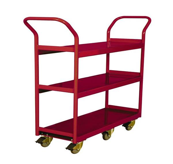260194 3-Shelf Narrow Aisle Shelf Cart
