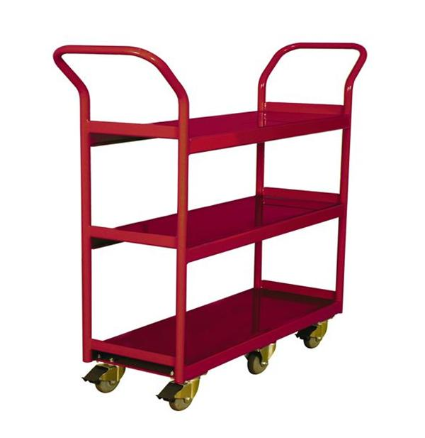 260195 3-Shelf Narrow Aisle Shelf Cart