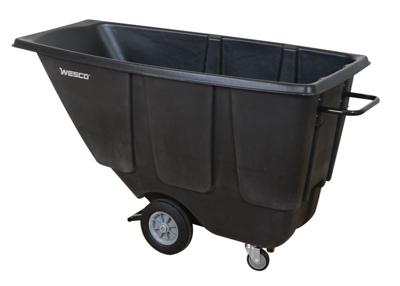 Wesco Part No. 272575 Utility Tilt Cart Black