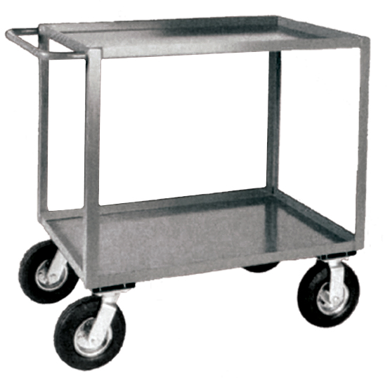 Stromberg 2 Shelf Steel Service Carts with Pneumatic Casters