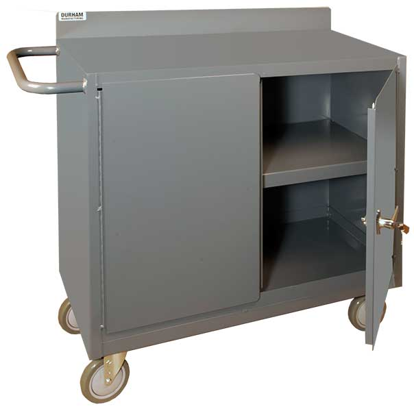 Durham 36 Inch Wide Mobile Cabinet with Lockable Storage Compartment Model No. 2210-95