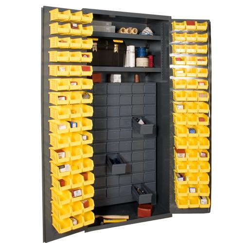 36 Inch Wide Small Parts Storage with 60 Jumbo Drawers Model No. 3501-DLP-60DR11-96-2S-95