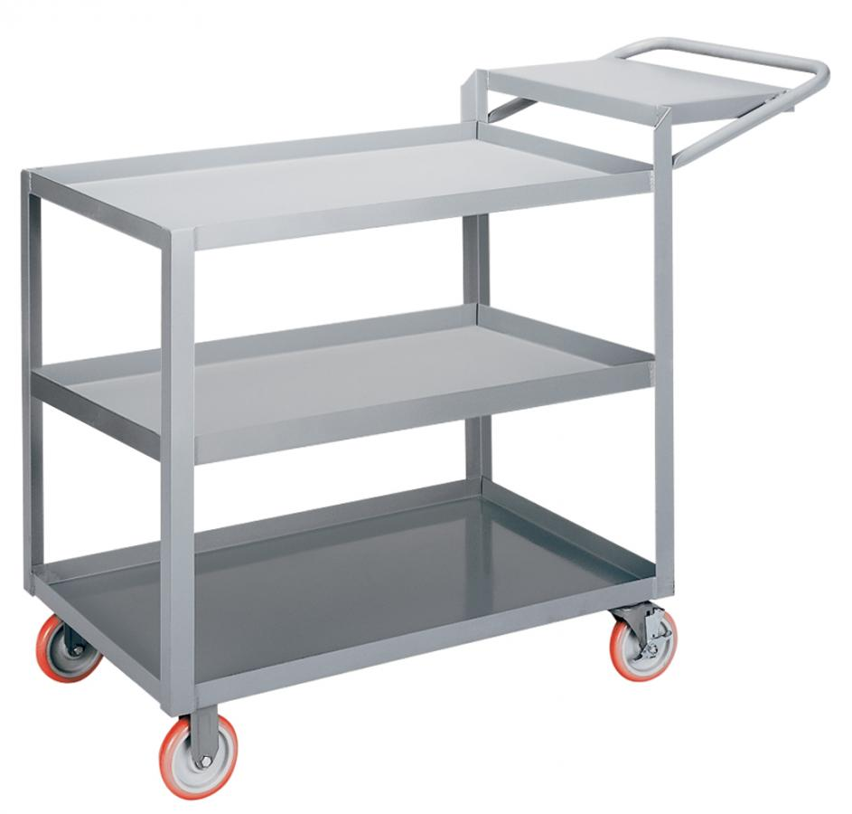 Little Giant 3-Shelf Order Picking Truck With Retaining Lips and Without Storage Pocket, Model 3LGL-2436-WSBRK