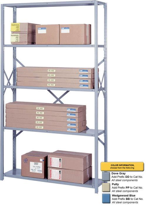 "8000 Series Open Shelving Sections - 48 Inch Wide - 48""W x 18""D x 84""H"