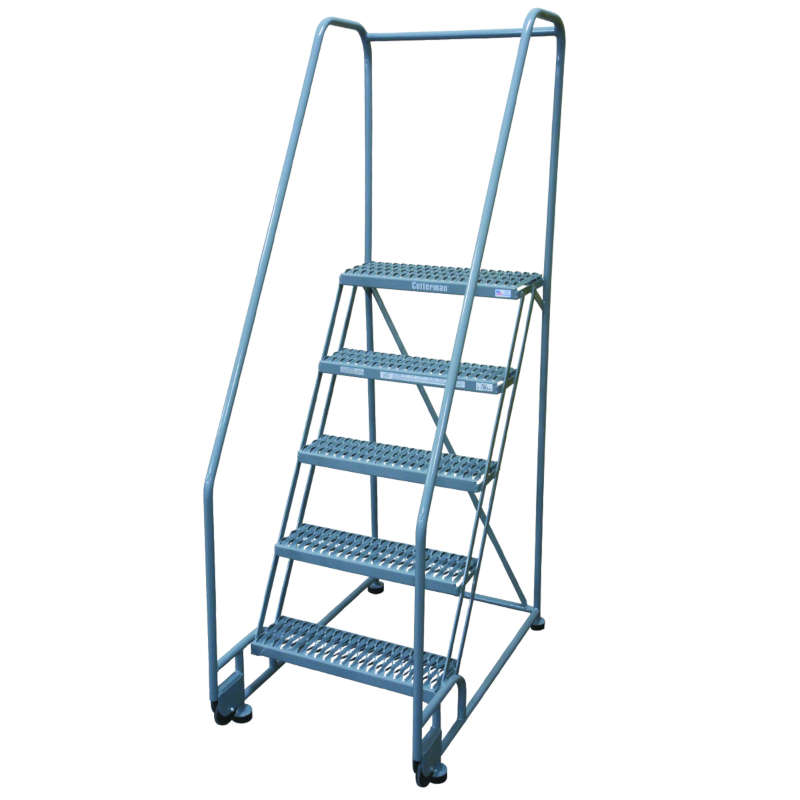 Cotterman TiltNRoll Ladders 24 Inch Wide 10 Inch Deep Step