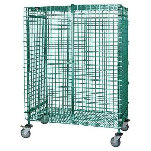 Quantum Proform Green Epoxy Stem Caster Security Carts