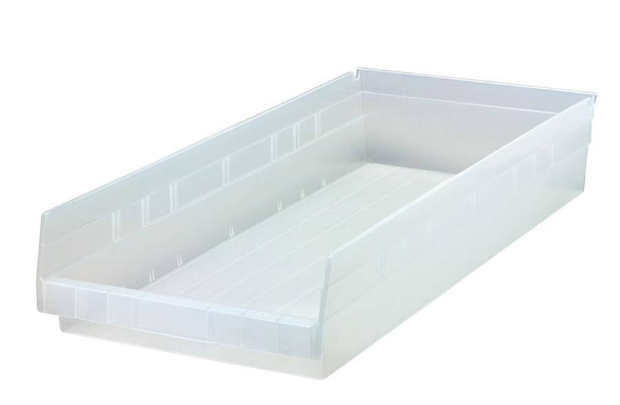 Clear-View Economy Shelf Bins, Model QSB116CL