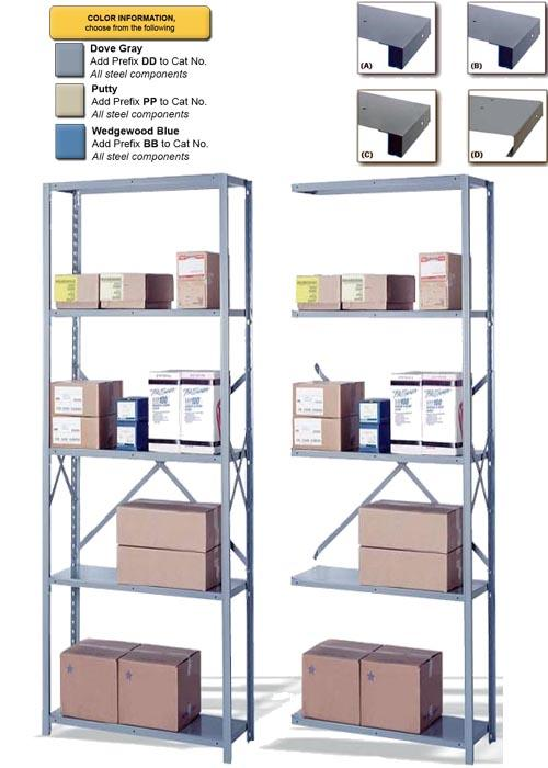 Lyon 8000 Series Open Steel Shelving - 5 Shelves