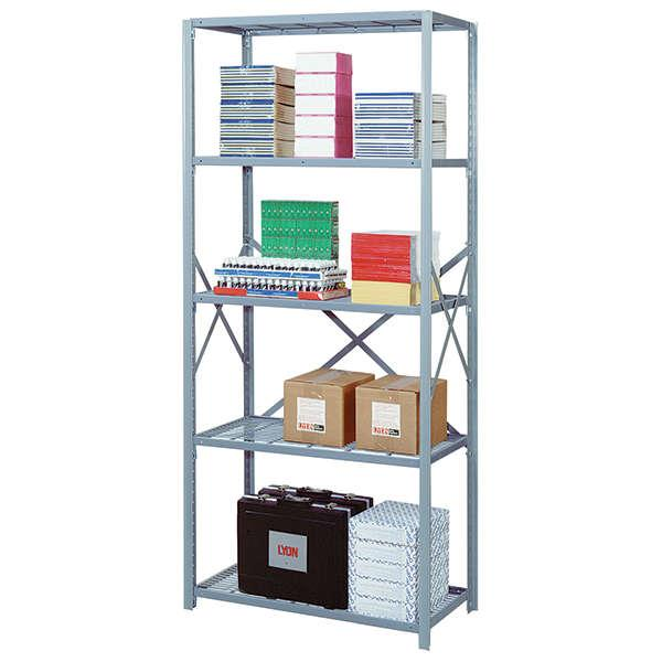 "8000 Series Open Wire Shelving Sections - 48""W x 18""D x 84""H - 5 Shelf Starter Unit"