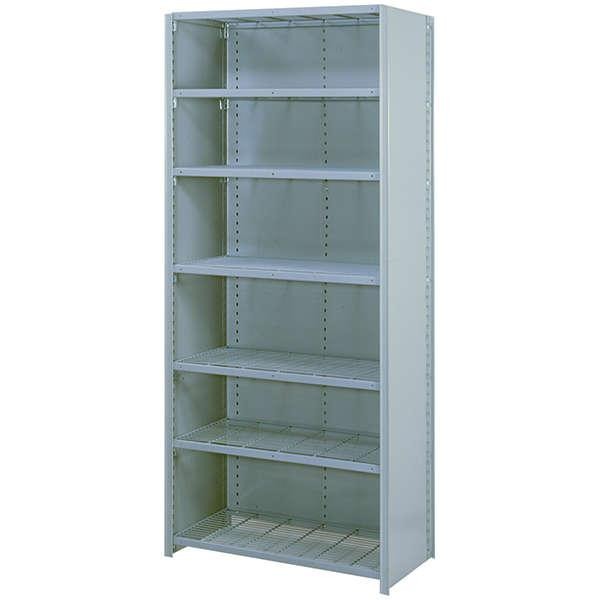 "8000 Series Closed Wire Shelving Sections - 48""W x 18""D x 84""H - 7 Shelf Starter Unit"