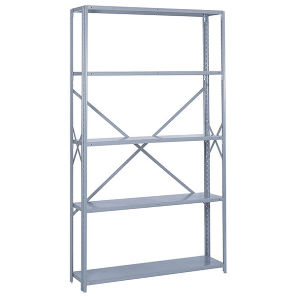 "Lyon 48"" Wide Open Shelving Stand Alone Offset Angle Shelving"