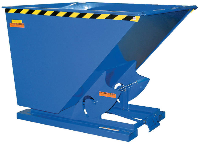Vestil Self-Dumping Steel Hopper with Bumper Release - Extra Heavy Duty