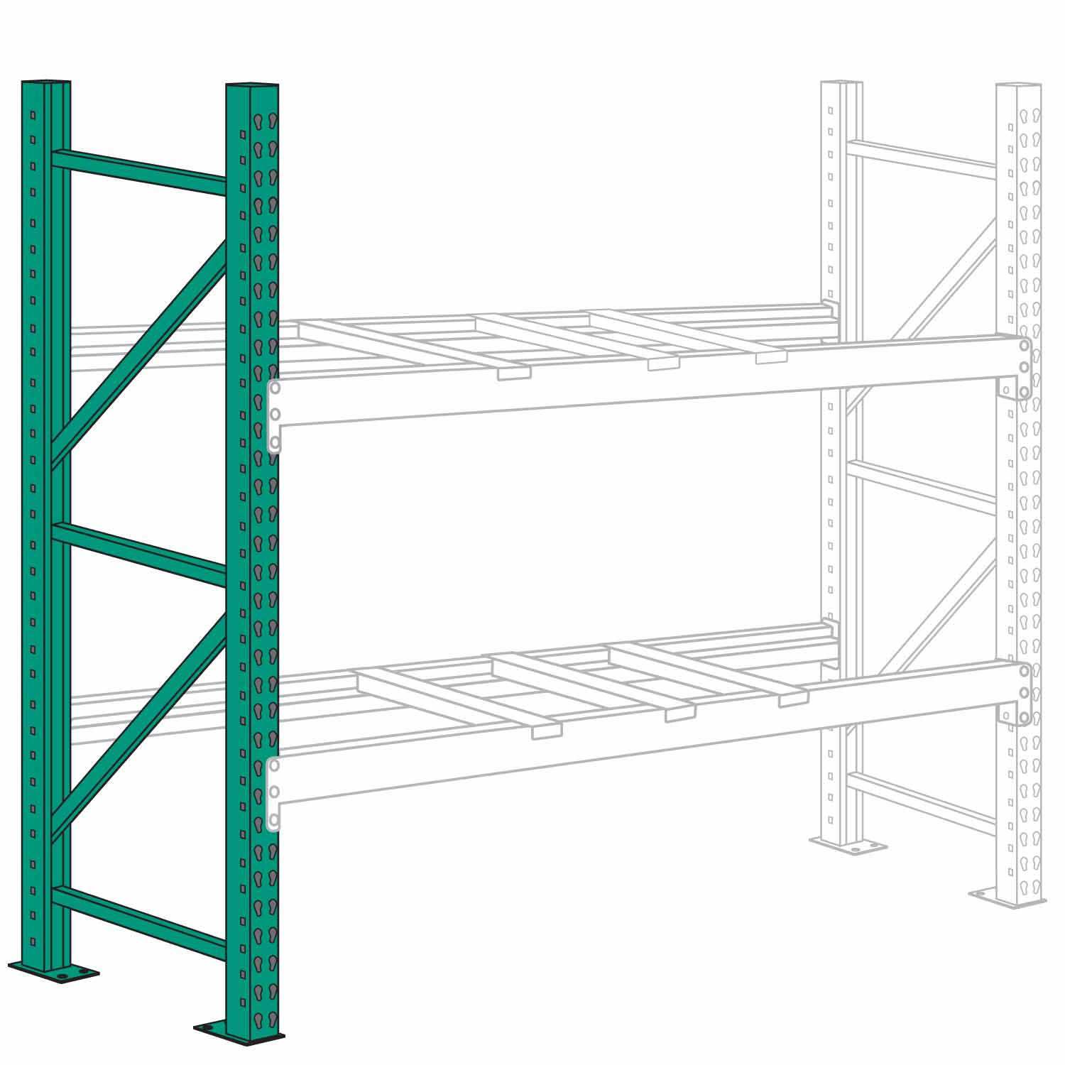 Lyon 42 X 96 Pallet Rack Upright Frame