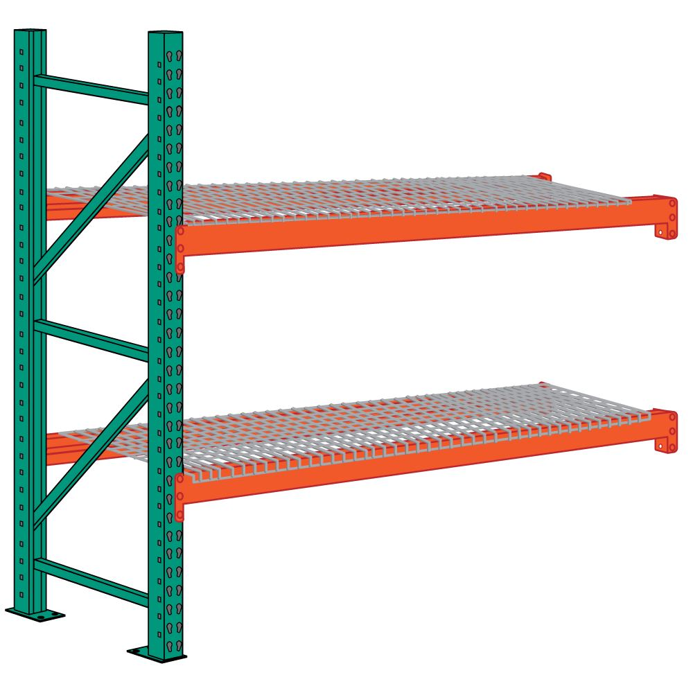 Lyon 96 x 42 x 96 Pallet Rack Add-on with Wire Decking