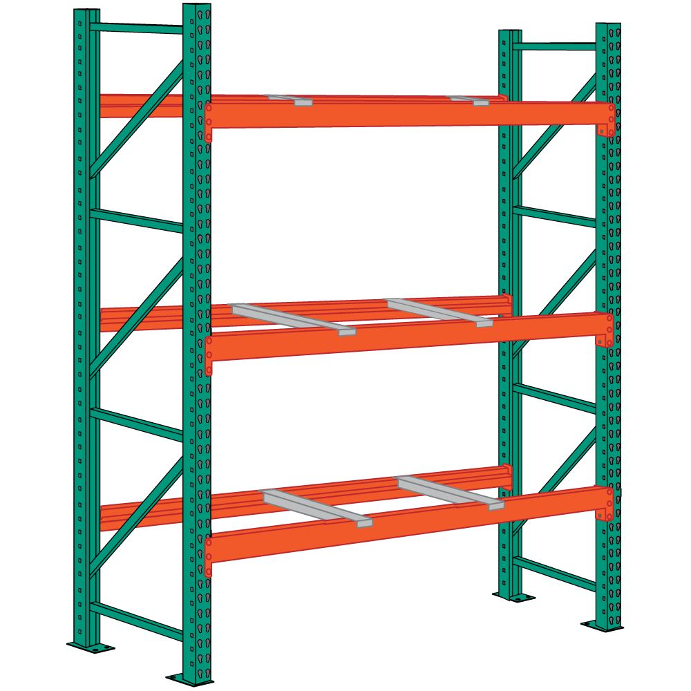 Lyon 96 x 42 x 144 Pallet Rack Starter with Front-to-Back Supports