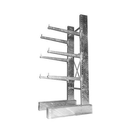 Red Steel Galvanized Cantilever Racks