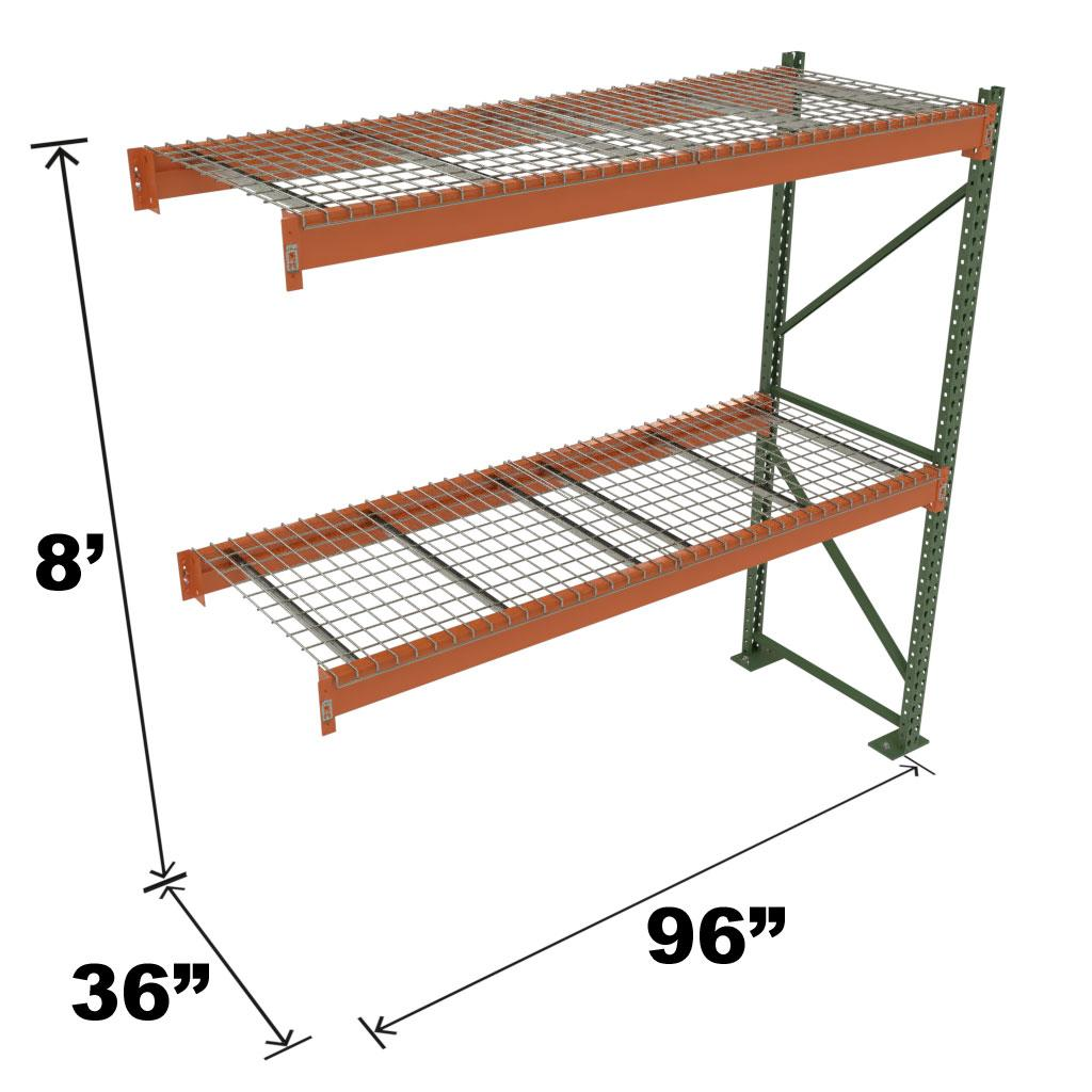 Stromberg Teardrop Storage Rack - Add-on Unit with Deck - 96 in x 36 in 8 ft