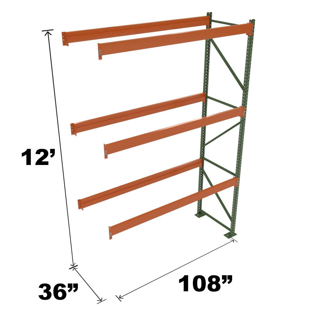 Stromberg Teardrop Storage Rack - Add-on Unit without Deck - 108 in x 36 in x 12 ft
