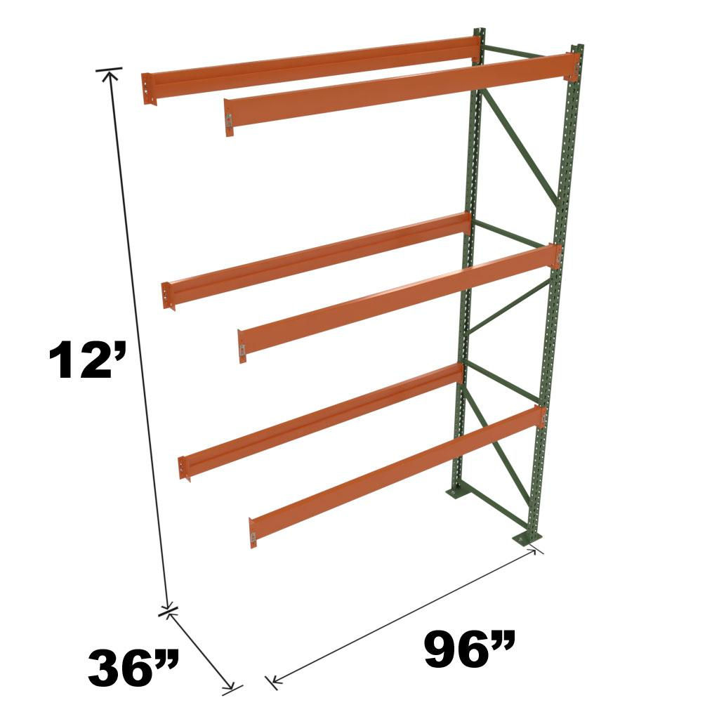 Stromberg Teardrop Storage Rack - Add-on Unit without Deck - 96 in x 36 in x 12 ft