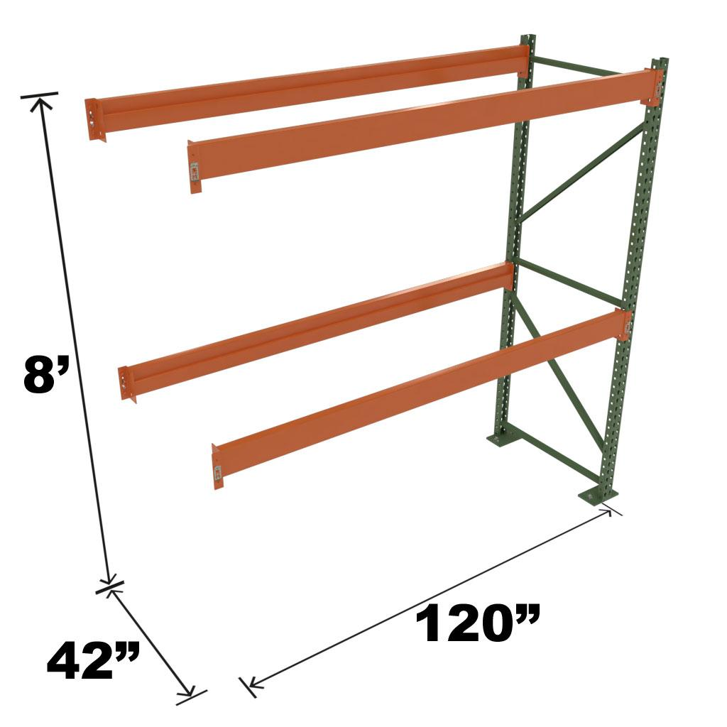 Stromberg Teardrop Storage Rack - Add-on Unit without Deck - 120 in x 42 in x 8 ft