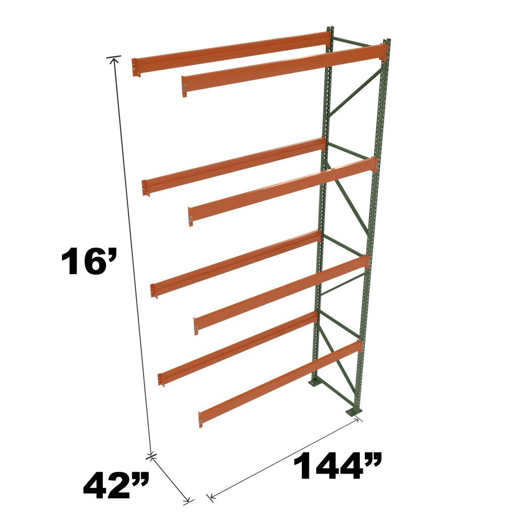 Stromberg Teardrop Storage Rack - Add-on Unit without Deck - 144 in x 42 in x 16 ft