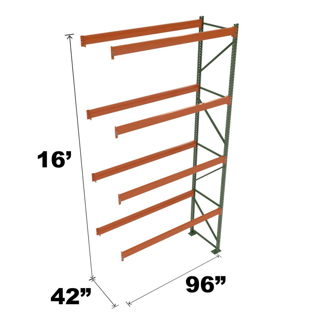 Stromberg Teardrop Storage Rack - Add-on Unit without Deck - 96 in x 42 in x 16 ft