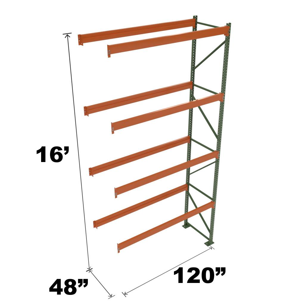 Stromberg Teardrop Storage Rack - Add-on Unit without Deck - 120 in x 48 in x 16 ft