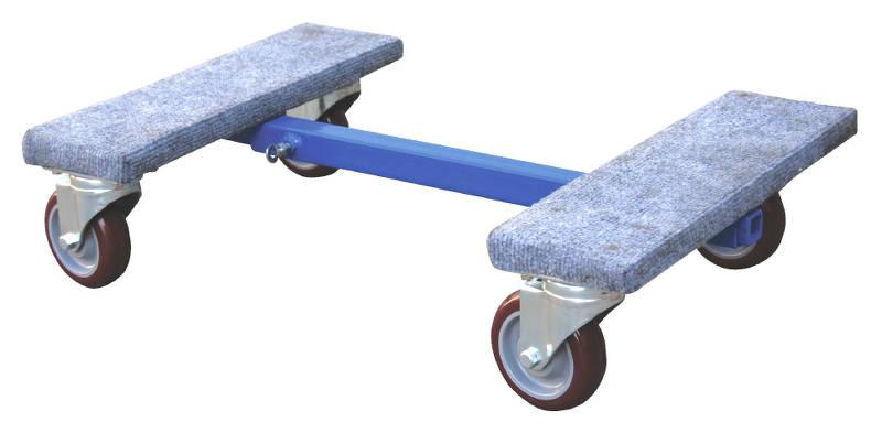 Vestil Adjustable Carpet End Dolly Model No. ACE-1624 retracted