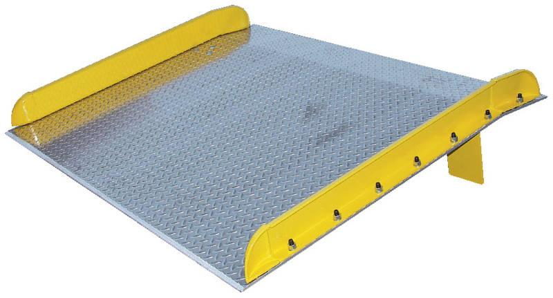 Vestil Aluminum Truck Dockboard with Steel Safety Curbs - 10000 lb. Capacity