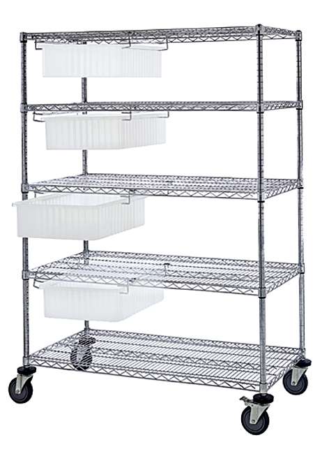 Quantum Clear-View Dividable Grid Transport Cart