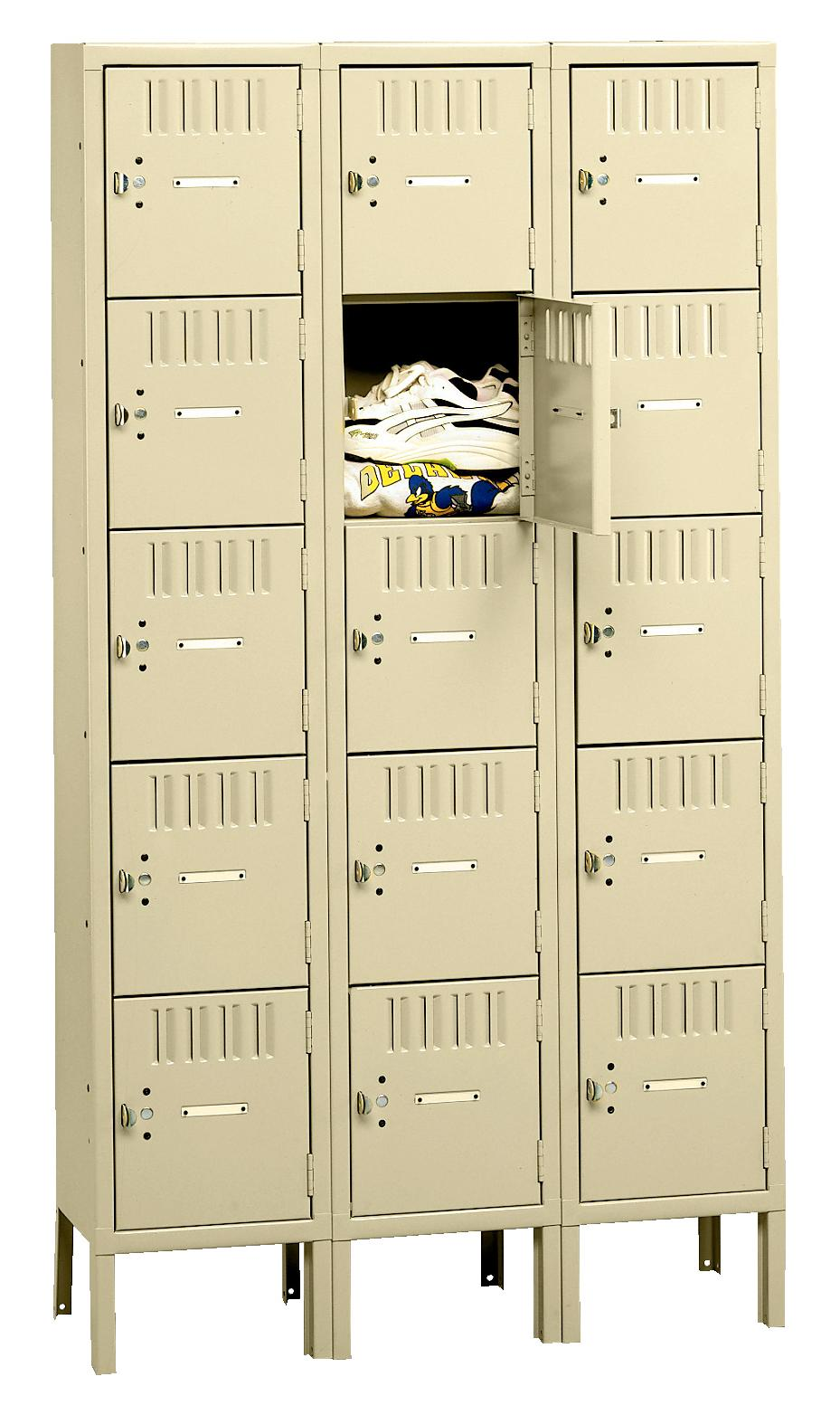 5 Tier Box Lockers With Legs - Model BS5-121512-3