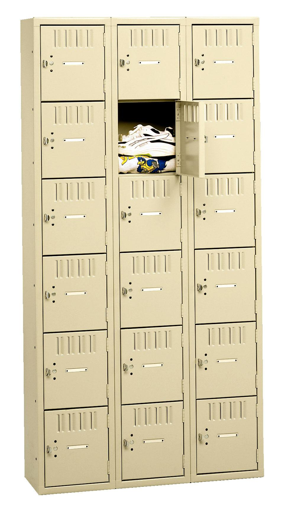 Tennsco Box Lockers - 6 Tier Without Legs - Assembled