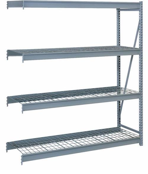 Lyon Bulk Storage Racks - 72 Inch Wide - Add-On Units - Wire Decking