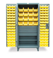 Lewis Bins Metal Bin Storage Cabinet With Drawers, Model CAB36-Drawer