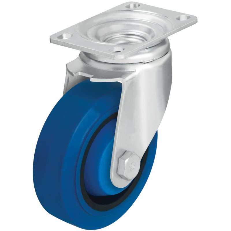 Vestil Blue High Quality Non-Marking Solid Rubber Casters
