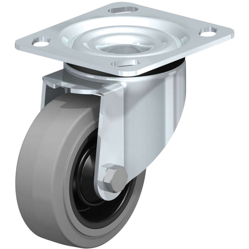 Vestil Gray High Quality Non-Marking Solid Rubber Casters