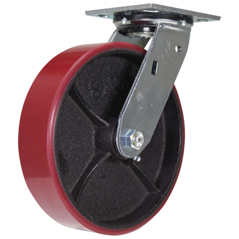 Vestil Medium-Heavy Duty Polyurethane Casters - Cast Iron Wheel Core