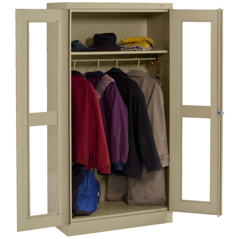 Tennsco C-Thru Standard Wardrobe Cabinets Model No. CVD7114