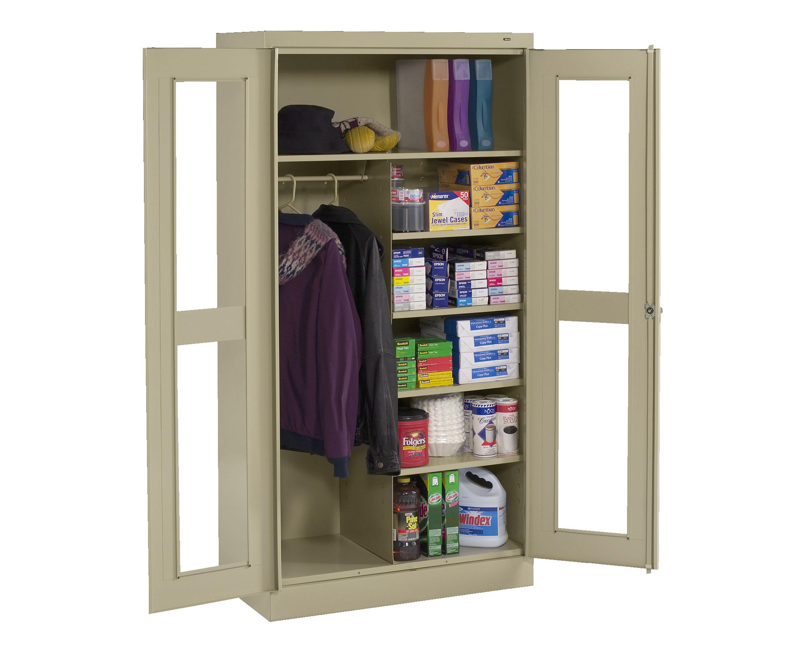 Tennsco Standard Combination C-Thru Storage Cabinets