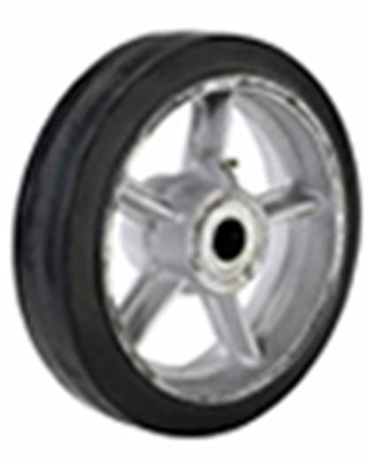 Cast Iron Center Moldon Rubber Wheels